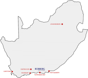 Robberg distribution map